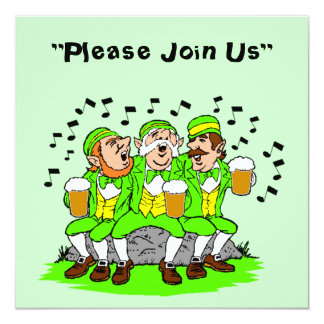 Singing w/ Beer St. Patrick's Day Party Invitation