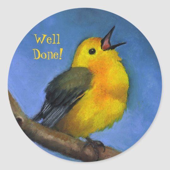 Singing Warbler: Well Done! Art on Stickers