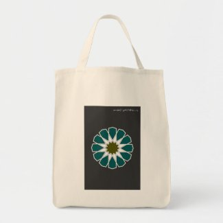 Single 12 Rosette with Bismillah Grocery Tote
