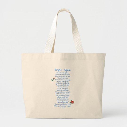 Single Again Large Tote Bag