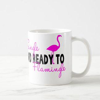 Single and Ready to Flamingle Classic White Coffee Mug