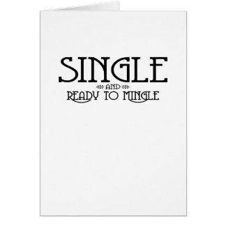 Single and Ready to Mingle Card