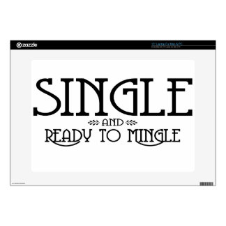 Single and Ready to Mingle Laptop Skin