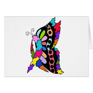 Single Autism Awareness Butterfly  blank card
