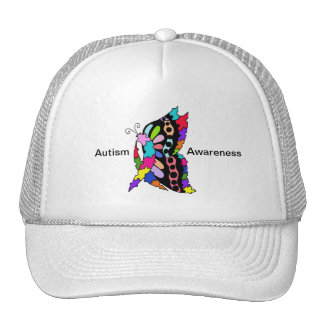 Single Autism Awareness Butterfly  Hat