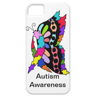 Single Autism Awareness Butterfly  Phone case