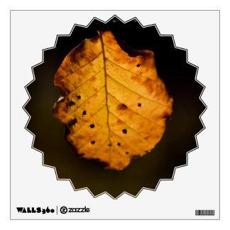 Single autumn leaf wall graphic