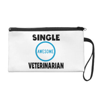Single Awesome Veterinarian Wristlet Purses