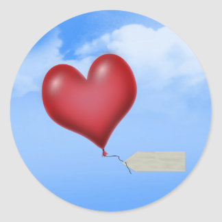 Single Balloon Heart With Message Tag