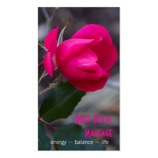 Single Bending Pink Rose Photograph Appointment Business Card