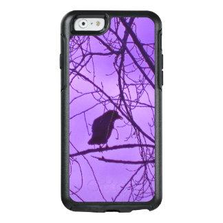 Single Black Crow in Trees Dusk Purple Sky OtterBox iPhone 6/6s Case