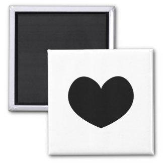 Single Black Heart Magnet 0001
