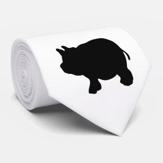 Single Black Mini Pig Tie