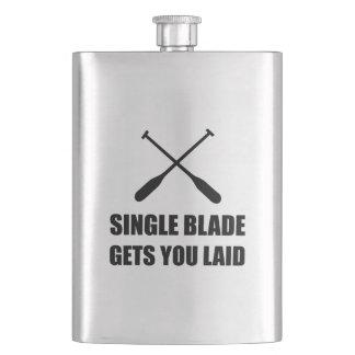 Single Blade Gets You Laid Funny Canoe Flask