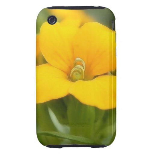 Single Bloom - Wallflower Tough iPhone 3 Covers