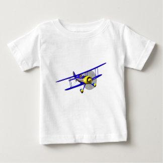 Single Blue Biplane Baby T-Shirt