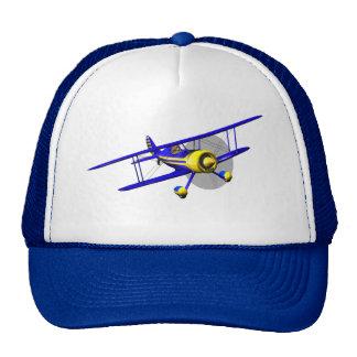 Single Blue Biplane Trucker Hat