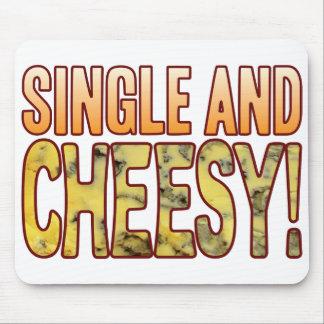 Single Blue Cheesy Mouse Pad