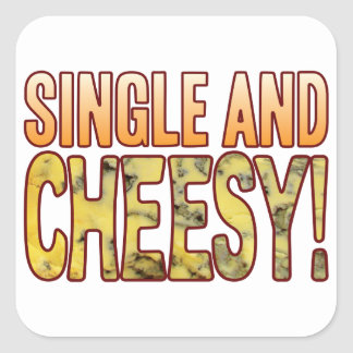 Single Blue Cheesy Square Sticker