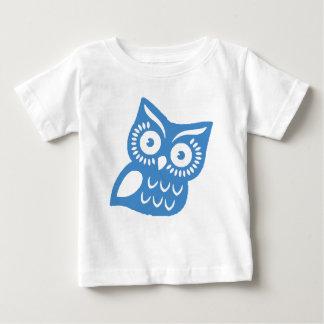 Single Blue Owl Baby T-Shirt