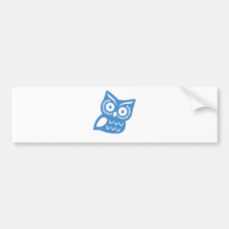 Single Blue Owl Bumper Sticker
