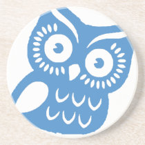 Single Blue Owl Coaster