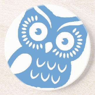 Single Blue Owl Coaster