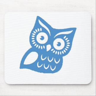 Single Blue Owl Mouse Pad