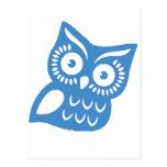 Single Blue Owl Postcards