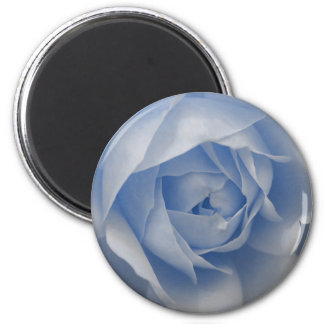 Single Blue Rose 2 Inch Round Magnet