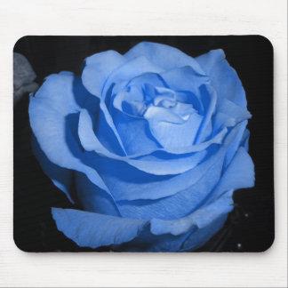 Single Blue Rose Mouse Pad