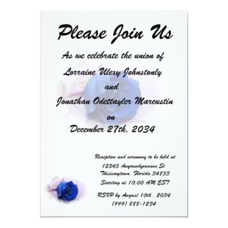 Single blue rose within an oval Frame Card