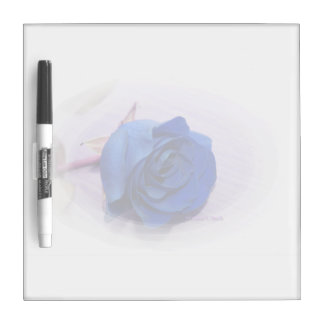 Single blue rose within an oval Frame Dry-Erase Board