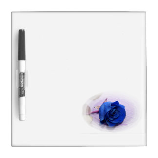 Single blue rose within an oval Frame Dry Erase Board