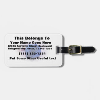Single blue rose within an oval Frame Luggage Tag