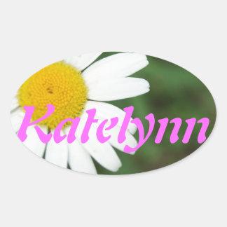 Single Bold Daisy Oval Sticker