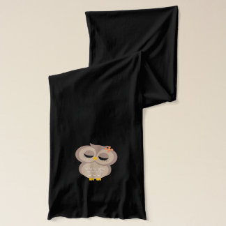 Single Brown Owl {hers} Scarf