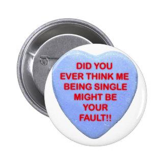 single pinback buttons