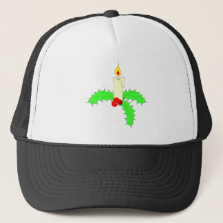 Single Christmas Candle Trucker Hat