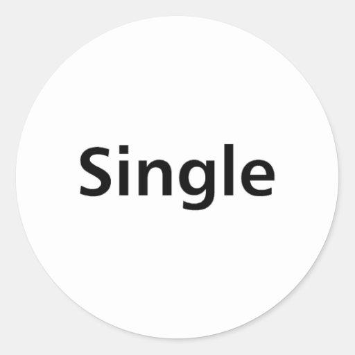 Single Classic Round Sticker