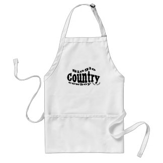 single country cowboy adult apron