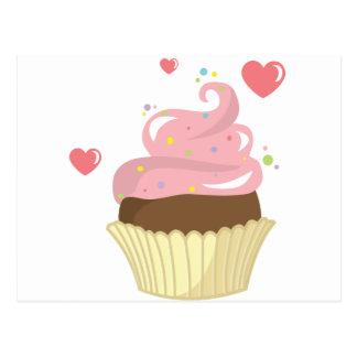 Single Cupcake Post Cards