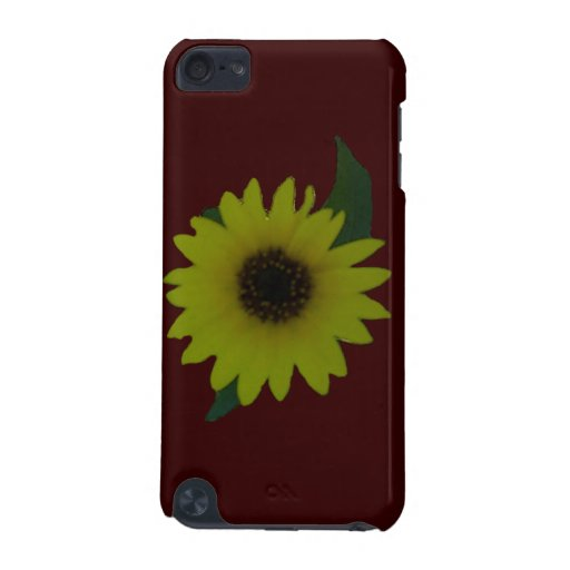 Single Cutout Wild Sunflower iPod Touch 5G Covers