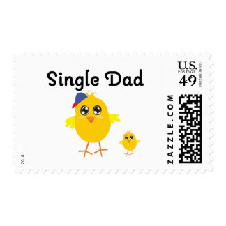 Single Dad Chick Stamps