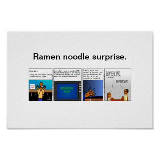 Single Dad Diaries poster - Ramen noodle surpprise