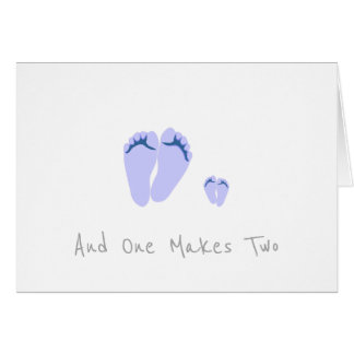 Single Dad New Baby Boy - And One Makes Two Card