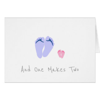 Single Dad New Baby Girl - And One Makes Two Card