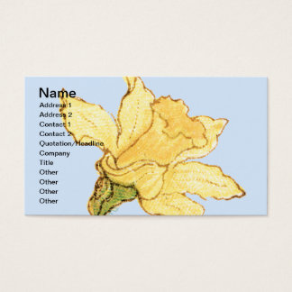 Single Daffodil Illustration by Kate Greenaway Business Card