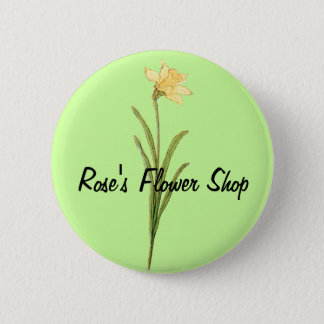 Single Daffodil Illustration by Kate Greenaway Button