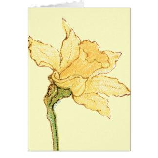 Single Daffodil Illustration by Kate Greenaway Card